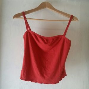 Rust orange tank top